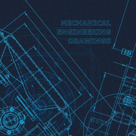 Blueprint. Technical cyberspace, Corporate Identity. Vector engineering illustration Technical illustrations