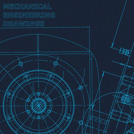 Blueprint. Technical cyberspace, Vector engineering illustration. Cover flyer banner background Illustration