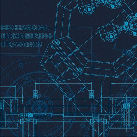Technical cyberspace, Corporate Identity. Computer aided design systems. Blueprint, scheme, plan sketch Industry