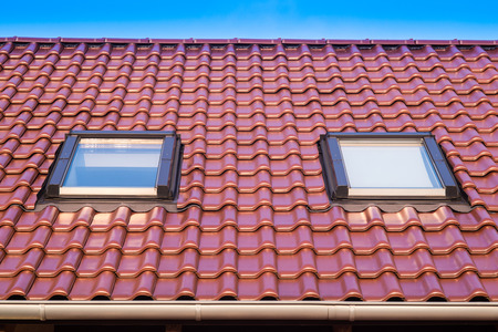 Tiled Roof with windows