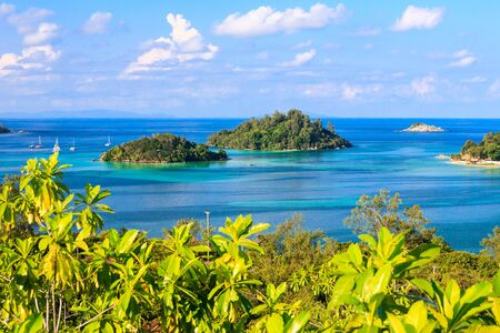 fantastic view: Fantastic view from the top - Seychelles islands - paradise