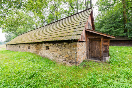 Traditional stone granary - the old manor cellar typical for lesser Poland Stock Photo