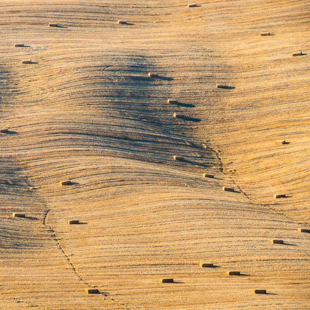 orcia: Tuscany landscape, Crete Senesi hills, Italy - abstract background Stock Photo