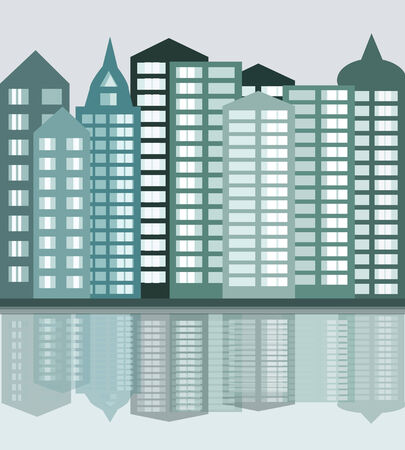 leaden: big city, vector illustration