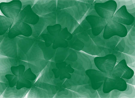 chances: four leaf clover background, vector illustration