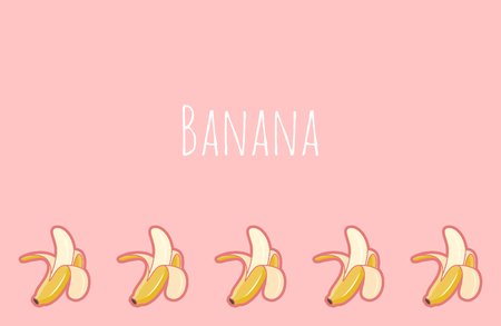 Pink banana cute wallpaper, place for text