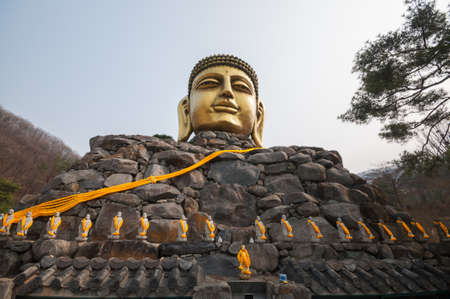 stone buddha: Stone buddha statue Stock Photo