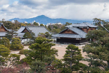 nijo: Top view of Nijo castle