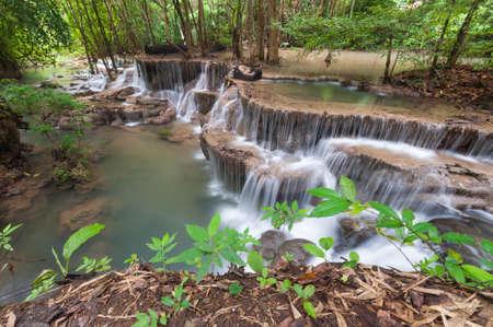 huay: Huay Mae Kamin Waterfall Stock Photo
