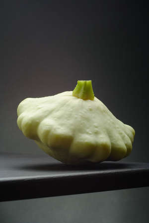 still life with pattypan squash