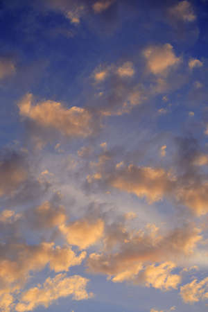 cottonwool: dawn, clouds on the sky Stock Photo