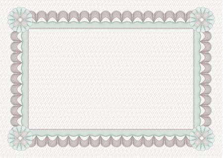 escarapelas: seguridad dibujo (impresi�n) para la protecci�n de dokuments como ceryficate o diploma  Vectores