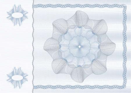 rosaces: dessin de s�curit� (guilloch�) pour la protection de dokuments tels que des ch�ques, des obligations, les cartes d'identit�, les billets ou de billets  Illustration