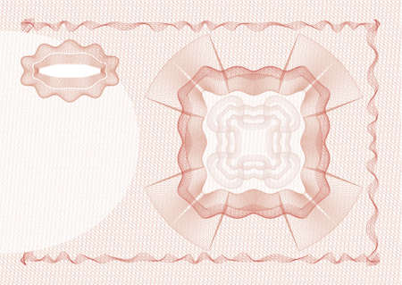escarapelas: dibujo de la seguridad (guilloche) para los dokuments de protecci�n tales como cheques, enlaces, tarjetas de identificaci�n, boletos o billetes de banco