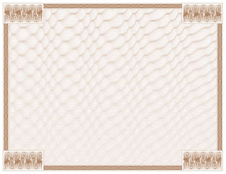 guilloche - frame with background Stock Vector - 613134
