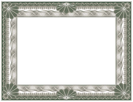 authenticity: guilloche - frame