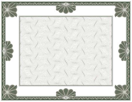 makelaardij: guilloche - frame met achtergrond Stock Illustratie