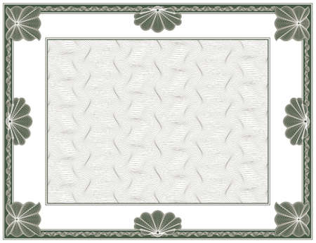 money border: guilloche - frame with background