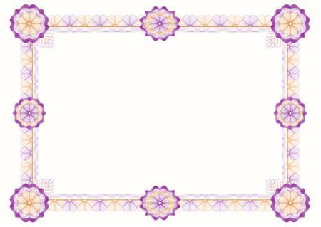 escarapelas: guilloches: clásico marco decorativo con rosetas para obtener los diplomas, certificados y documentos similares  Vectores