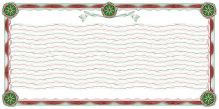 escarapelas: guilloches: decorativos frontera con ondulada de fondo, rayas y rosetas para el cl�sico de diplomas, certificados y documentos similares  Vectores