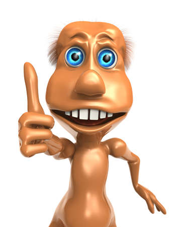 3D toon character with thumb up OK sign photo
