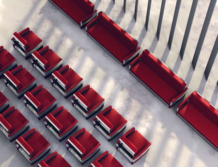 3D visualisation of modern spacious meeting place Stock Photo - 7198036