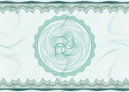 bank note: Classic guilloche pattern with rosette suitable for diploma, certificate, guarantee, ticket, voucher or coupon