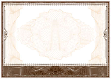 filagree: Border with guilloche pattern suitable for diploma or certificate