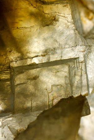 calcium carbonate: Close up fotografia di una calcite (carbonato di calcio) cristalli. Europa, la Polonia, Holy Cross Mountains.