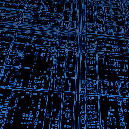 Computer microcircuit as a technology concept  Stock Photo