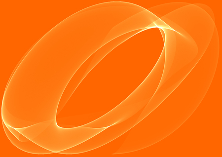 Orange waves as a beautiful abstract background