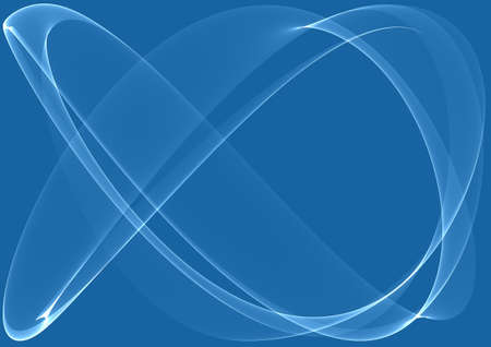 Blue waves as a beautiful abstract background Stock Photo