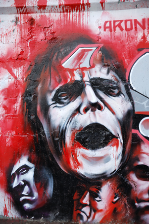 deface: Vampire graffity on the wall as a background