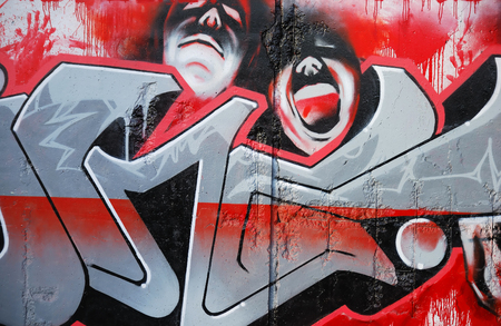 graffity: Vampire graffity on the wall as a background