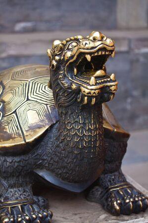 Close-up bronze turtle photo