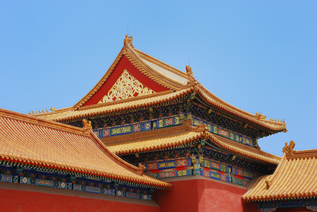 Emperor ancient temple in the Forbidden city