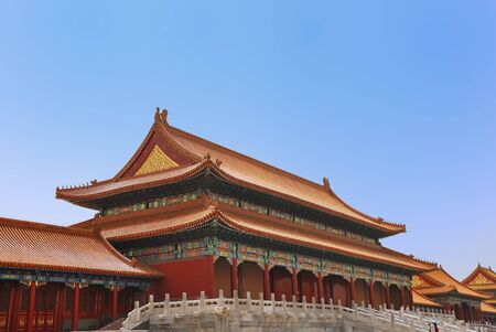 Emperor ancient temple in the Forbidden city photo
