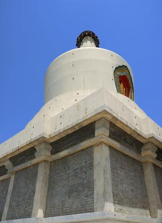 dagoba: Close-up China White Dagoba on the Qionghuadao