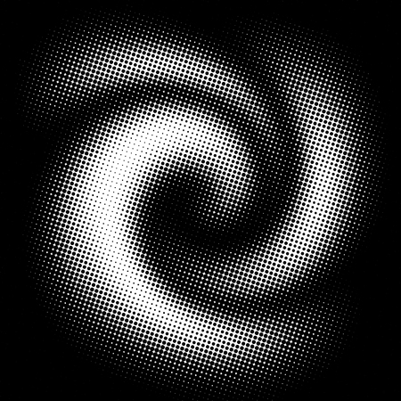 halftone pattern: Abstract circle background as a concept of technology Stock Photo
