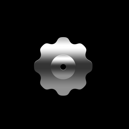 Isolated pinion  gear  on the black background photo