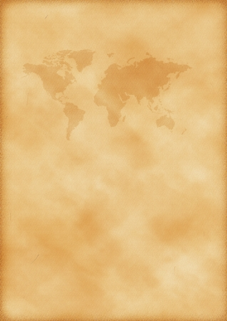 Old map of world as a background photo