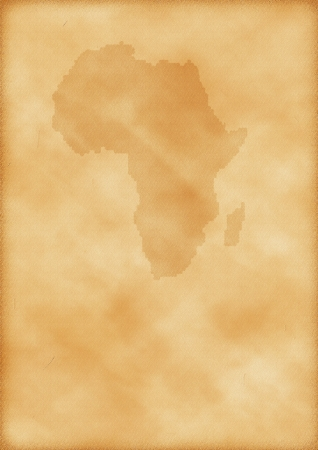 Old map of Africa as a background Stock Photo