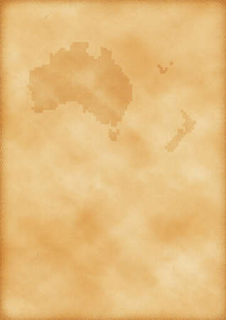 Old map of Australia and New Zealand as a background photo