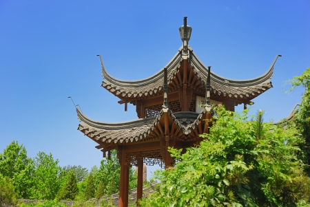Little ancient temple in Forbidden city garden
