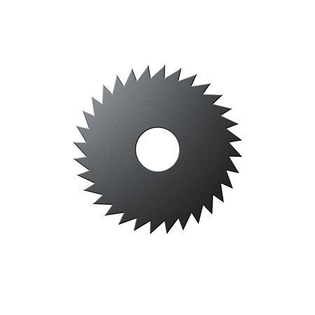 Isolated blade of saw on the white background photo