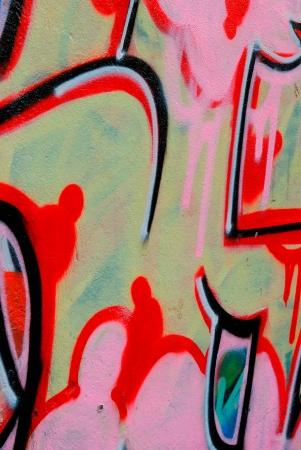 Nice colors of the urban art graffiti Editorial