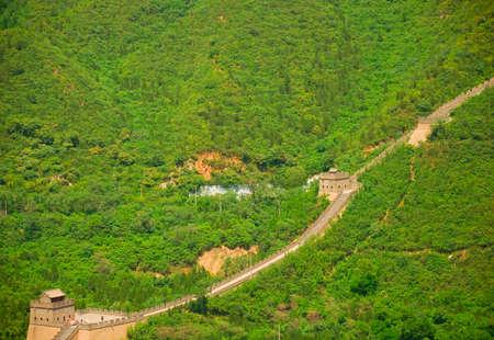 Beautiful landscape of Great Wall near the Beijing photo