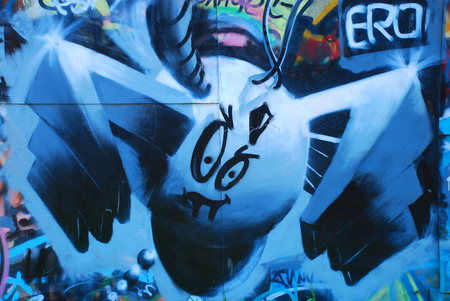 Element of graffiti as a nice background