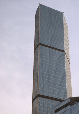 High skyscraper in the blue sky of Shanghai