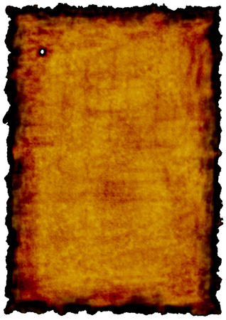 Old paper with burn edges as a concept of time or background